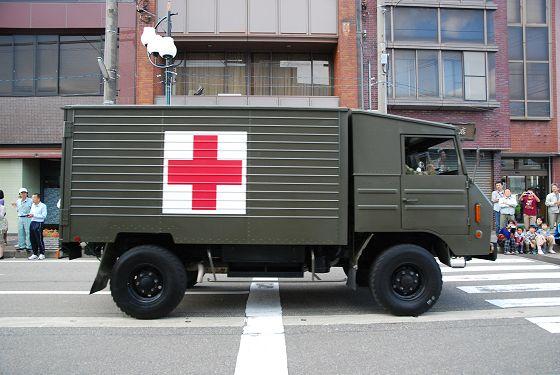 一トン半救急車:車両右面 - い...
