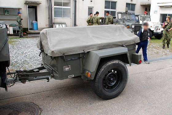 陸上自衛隊:<b>1</b>/<b>4t トレーラ</b> - いこまいけ高岡