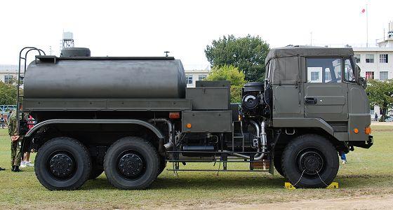 陸上自衛隊:3トン半水タンク車 ...