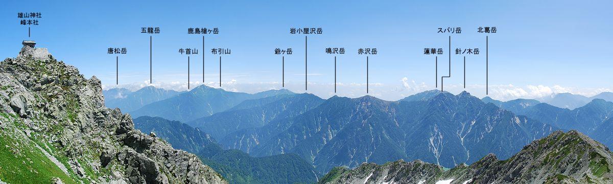 後立山連峰:いこまいけ高岡
